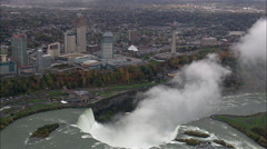Skylon Tower On Canadian Side Of Falls Stock Footage