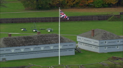 Fort George In Canada Stock Footage