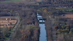 Erie Canal - stock footage