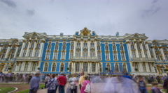 The Catherine Palace timelapse is a Rococo palace located in the town of Stock Footage