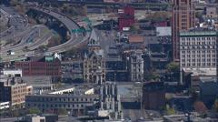 Syracuse aerial Stock Footage
