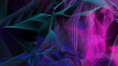 Floating wavy polygonal crystals backround Stock Footage
