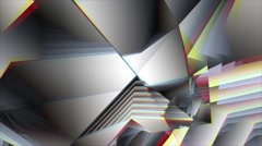 Triangle wavy wall Stock Footage
