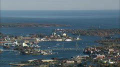 Portsmouth And Harbour Islands Stock Footage