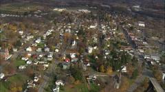 Schuylerville aerial Stock Footage