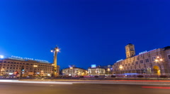 Vosstaniya square and Obelisk Hero City Leningrad timelapse. ST.PETERSBURG Stock Footage