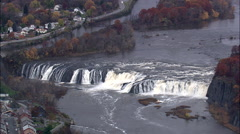 Cohoes Falls And Mills Stock Footage