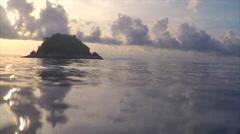 Sunrise in morning on LIPE island, Thailand Stock Footage