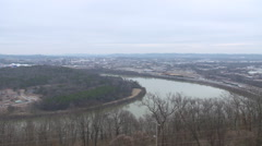 Tennessee River in Chattanooga, Tennessee Stock Footage