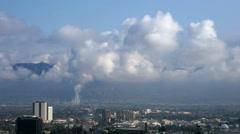 Clouds Over Burbank California Stock Footage