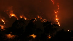 Hollywood Wild Fire Time Lapse - stock footage