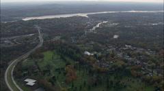 Catskill aerial Stock Footage