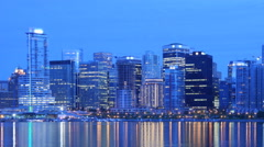 Vancouver Skyline Time Lapse Stock Footage