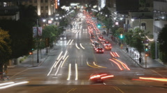 Hollywood Traffic Time Lapse Stock Footage