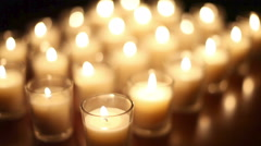 Loopable Votive Candles Background Stock Footage