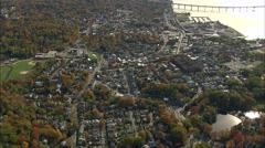 Tarrytown aerial Stock Footage