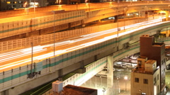 Elevated Road Time Lapse Stock Footage