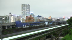 Trains in Tokyo - stock footage