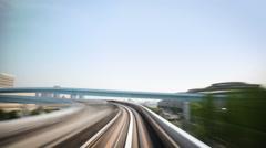 Train Ride Tokyo - stock footage