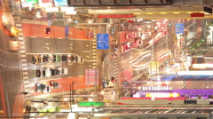 Busy Street In Tokyo Time Lapse Stock Footage