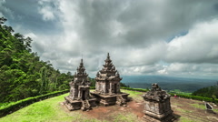 Ancient Hindu temple Gedong Songo in central Java, Indonesia. 4K Timelapse - Stock Footage