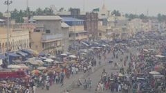 Busy Grand road,Puri,India Stock Footage