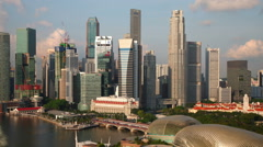Singapore Skyline Time Lapse Stock Footage