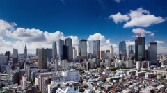 Clouds Over Shinjuku Time Lapse Stock Footage