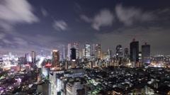 Shinjuku Night Time Lapse Stock Footage
