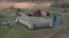 Fort Delaware On Pea Patch Island Stock Footage