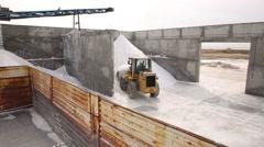 Salt Production, Tuz Üretimi Stock Footage