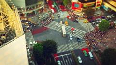 Shibuya Crossing In Tokyo Japan Stock Footage