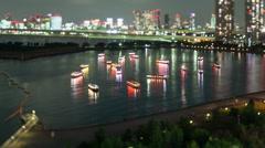 Night Time-Lapse Tokyo Japan - stock footage