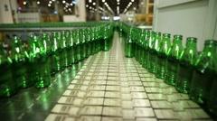 Production of Glass Bottles, Cam Şişe Yapımı Stock Footage