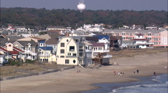 Houses Close To Beach Stock Footage