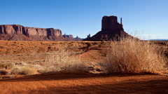 Monument Valley Dawn Time Lapse Stock Footage
