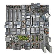 City top view. isolated part Stock Illustration
