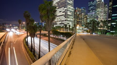 Los Angeles Freeway Time Lapse Stock Footage