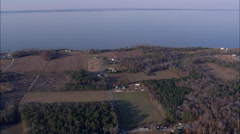 Woods On South Side Of Albermarle Sound Stock Footage