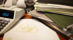 Too Much Paperwork Stock Footage