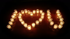 Votive Candles Love Stock Footage