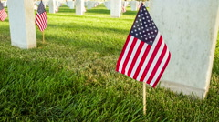 US National Cemetery Stock Footage