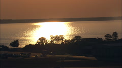 Sunset Over Roanoke Island Stock Footage