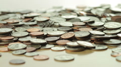 Pile of IS Coins Stock Footage