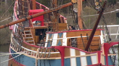 Th Century Replica Ship - Elizabeth Ii Stock Footage