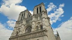 Notre Dame de Paris Time Lapse Stock Footage