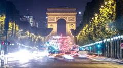 Paris - Arc de Triomphe Stock Footage