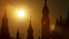Westminster Palace Sunset Time Laspe - stock footage