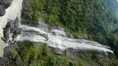 Vertical Waterfall Taiwan Stock Footage