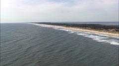 Beach Along Ocracoke Island Stock Footage